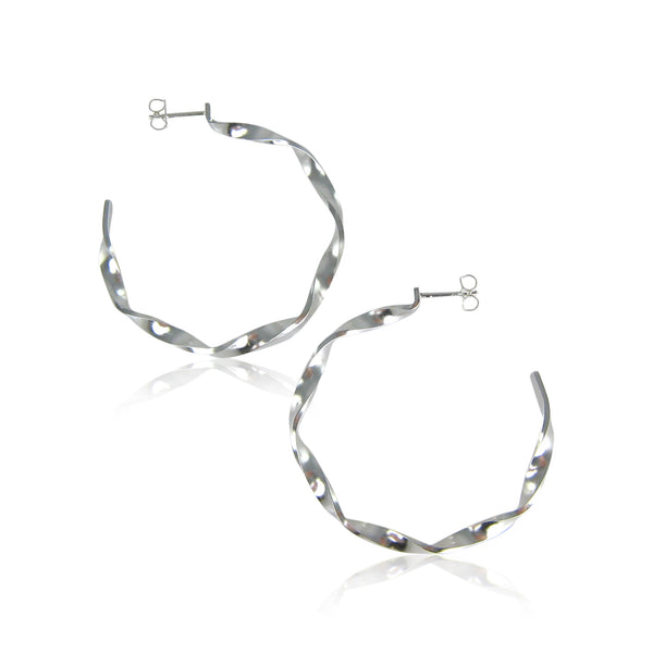 Karin Jacobson - Medium Twist Hoops
