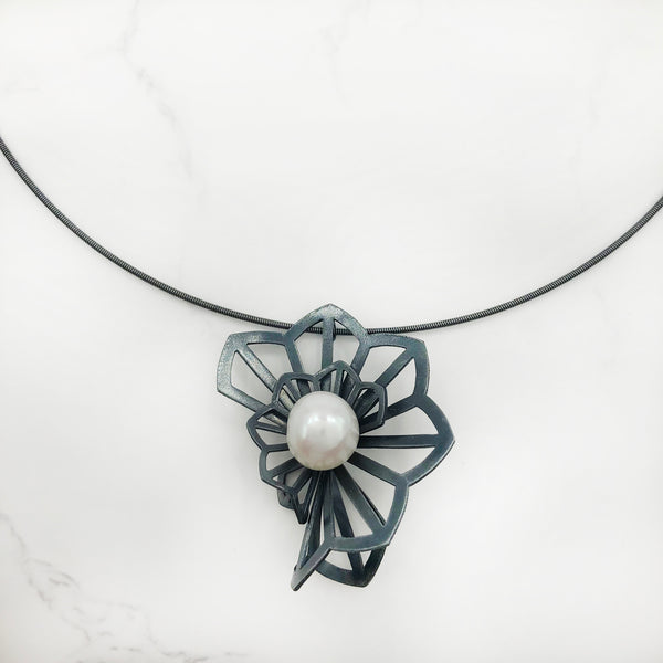 Karin Jacobson - Hyacinth Fold Pendant with Pearl