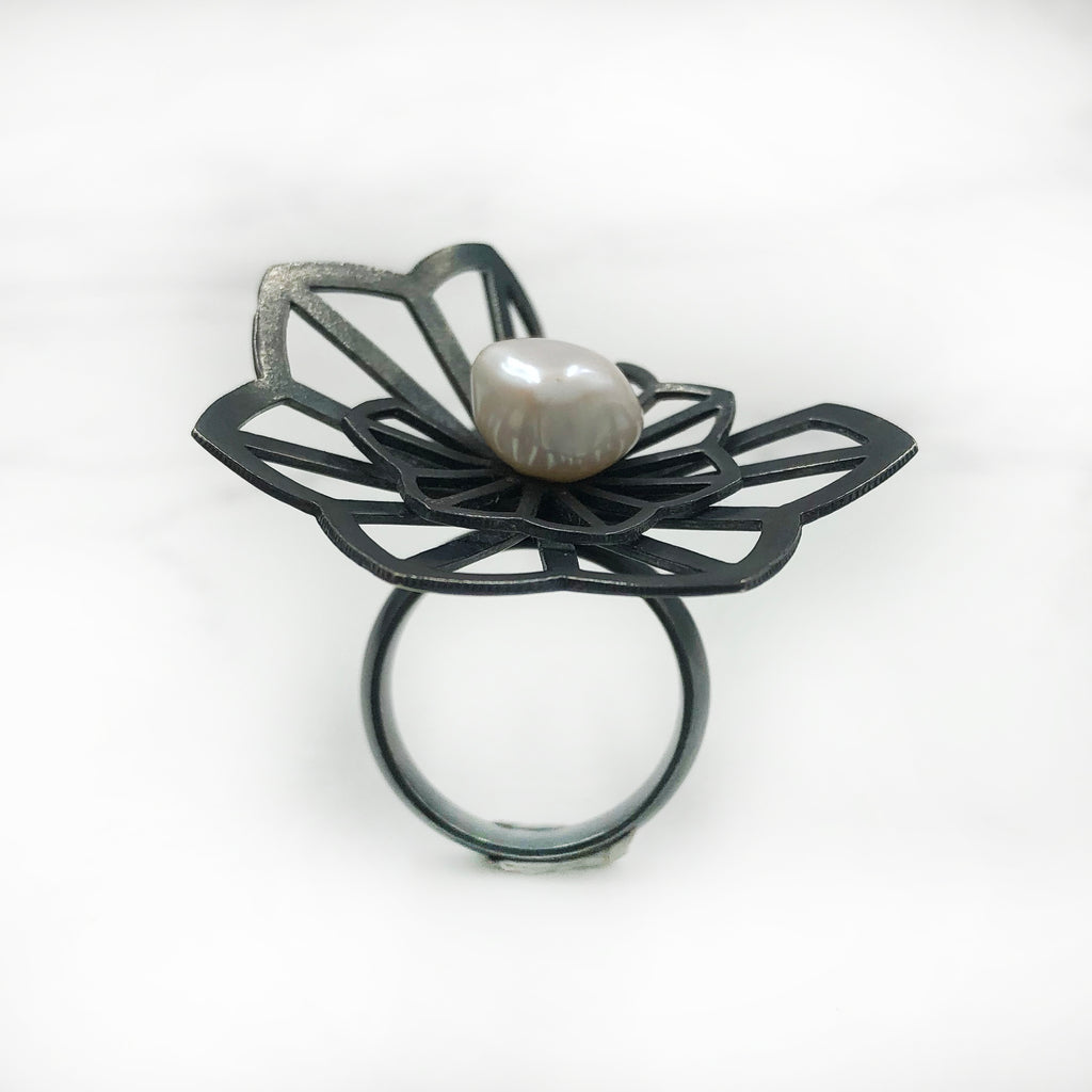 Karin Jacobson - Double Anise Origami Ring