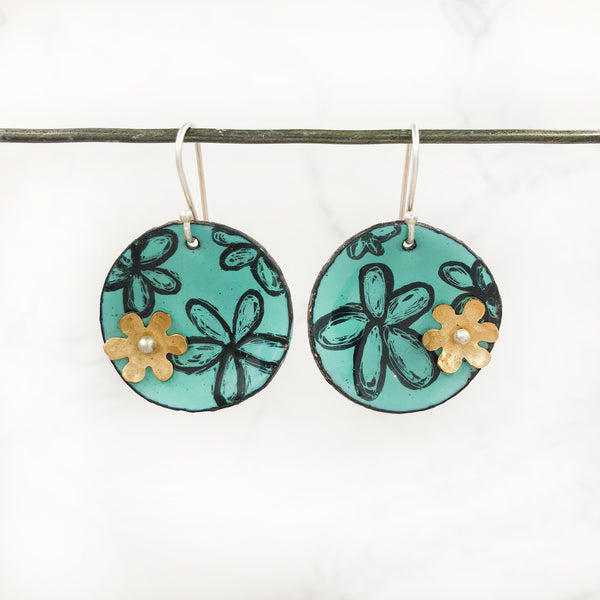 Kirsten Denbow Designs- Disk Flower Earrings