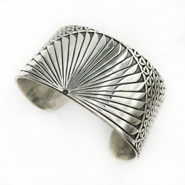 Matthieu Chemineé - Wide Stamped Sterling Cuff