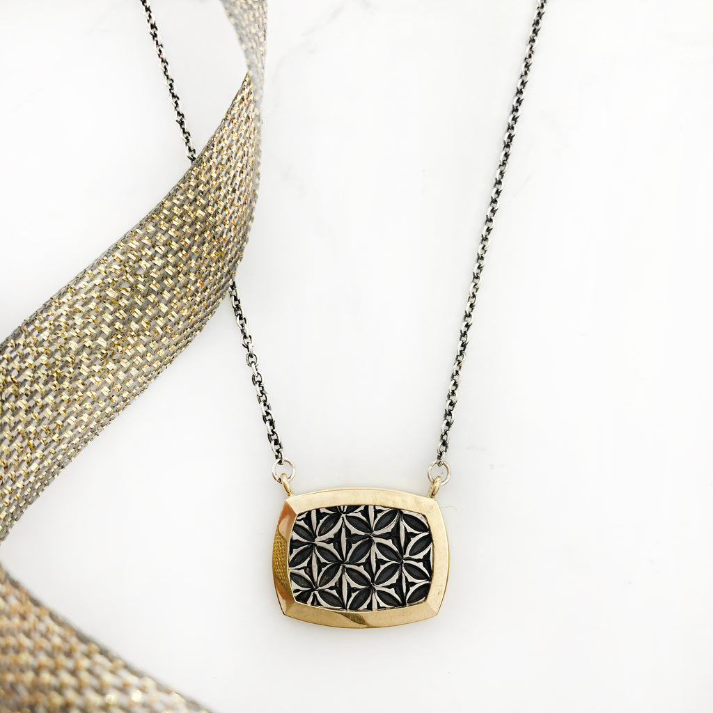 Matthieu Chemineé - Gold and Silver Stamped Pendant