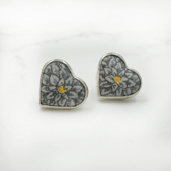 Nicolette Absil - Heart Post Earrings