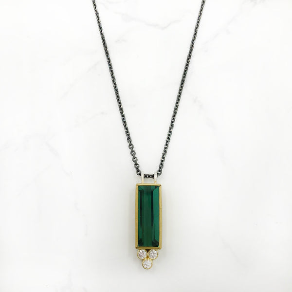 Sam Woehrmann - Tourmaline and Diamond Pendant