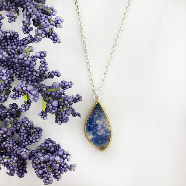 Sam Woehrmann - Quartz With Dumortierite Pendant