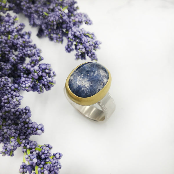 Sam Woehrmann - Quartz with Dumortierite Ring