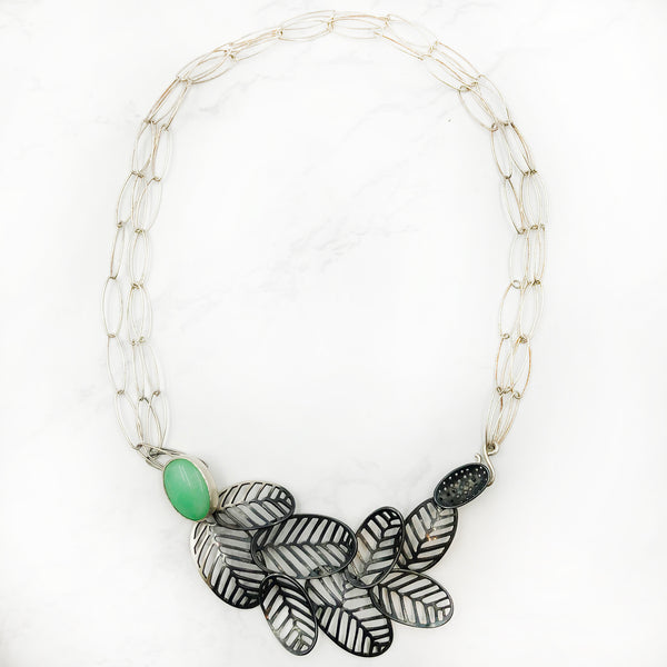 Stacy Rodgers - Mea Flow Necklace With Chrysoprase