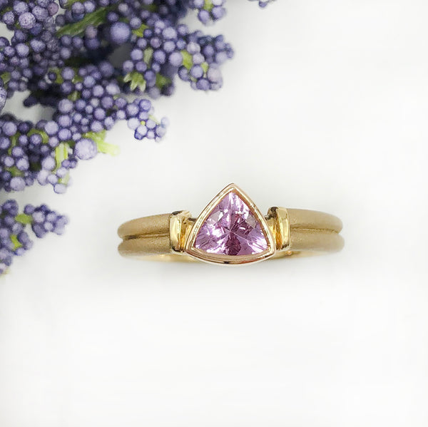 Stephen Dixon - Trillion Pink Topaz Ring