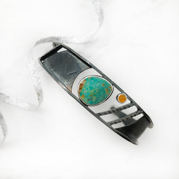 Tammy B Jewelry - Turquoise narrow Cuff