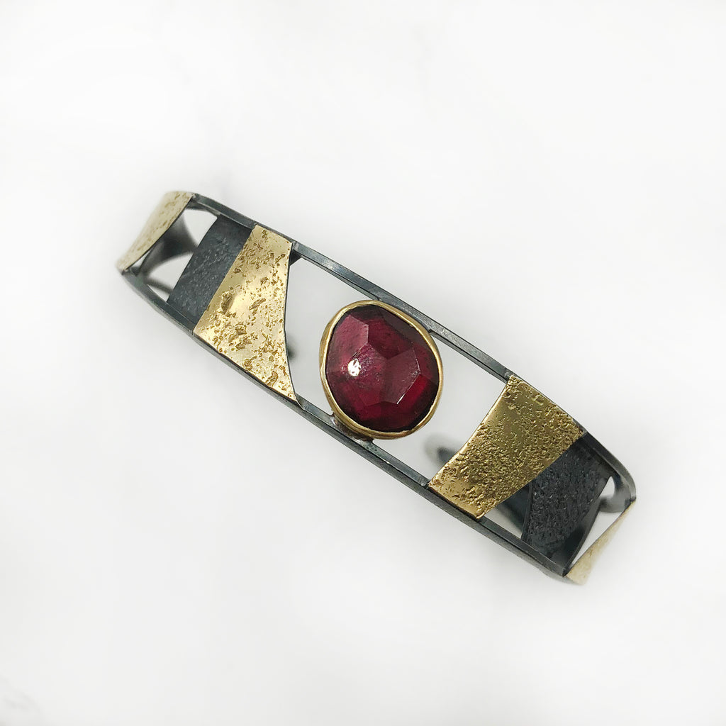 Tammy B Jewelry - Garnet Mummy Cuff