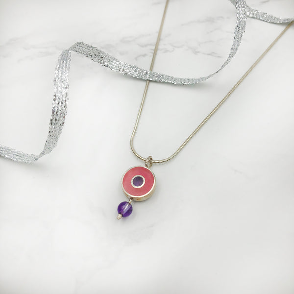 Wendy Jo New - Multi Color Round Dot Pendant