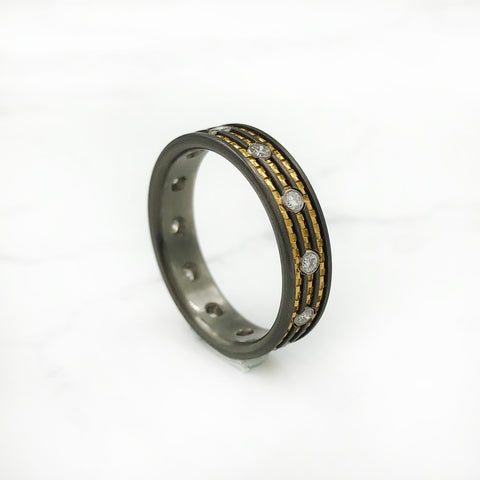 Wes Glebe - Titanium Eternity Diamond Band