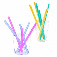 GoSili and SiliKids Reusable Silicone Straws 6 pk- Multiple Color Options