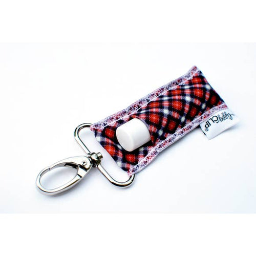LippyClip- Christmas Plaid