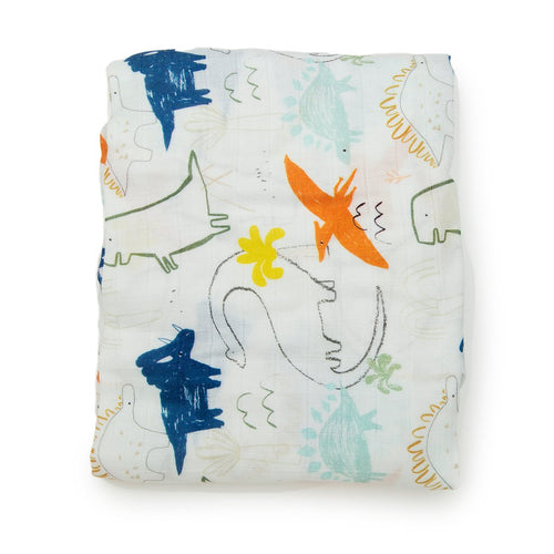 LouLou Lollipop Dinoland Crib Sheet