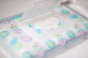 Orchid Hearts Wet Wipes Pouch- Multiple Options Available