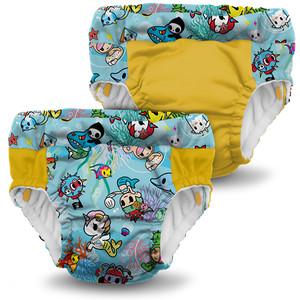 Lil Learnerz Training Pants & Swim Diaper - tokidoki x Kanga Care - tokiSea 2 pack
