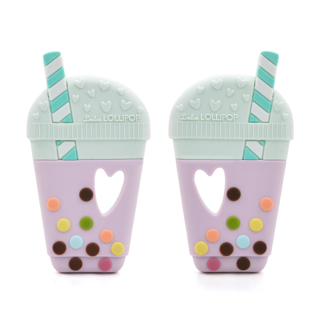 LouLou Lollipop Taro Bubble Tea Silicone Teether