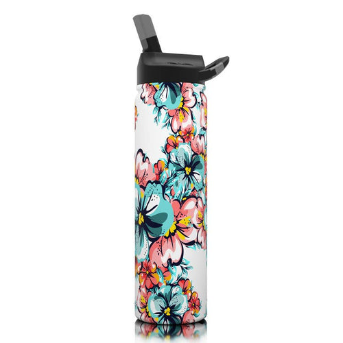 27 Oz. Hawaiian Hibiscus SIC Stainless Steel Water Bottle