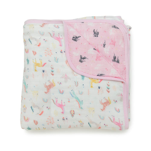 LouLou Lollipop Unicorn Dream Muslin Quilt