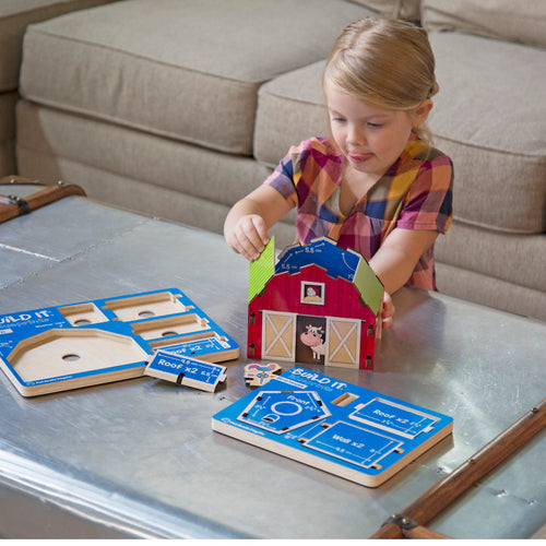 Fat Brain Toys- Build It Blueprints Puzzle Barn