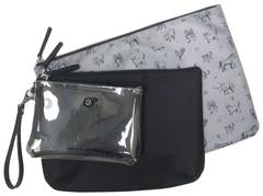 Twelvelittle Trio Pouch- Black