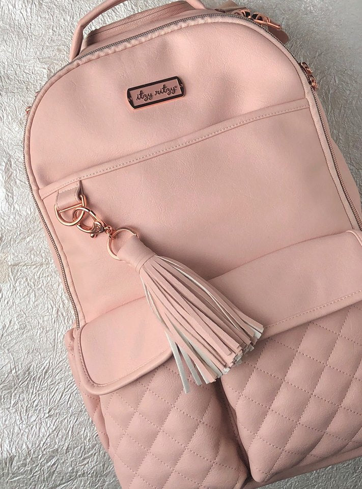 Itzy Ritzy Blush Boss Diaper Bag Backpack