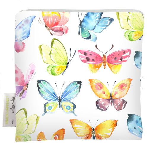 Itzy Ritzy Snack Happens Reusable Snack and Everything Bag- Beautiful Butterflies