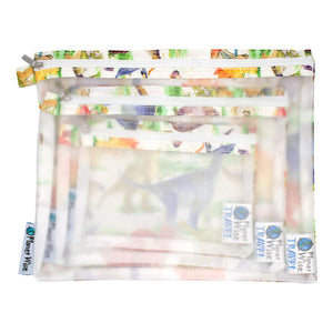 Planet Wise Clear Pouch- 3-Pack- Dinomite