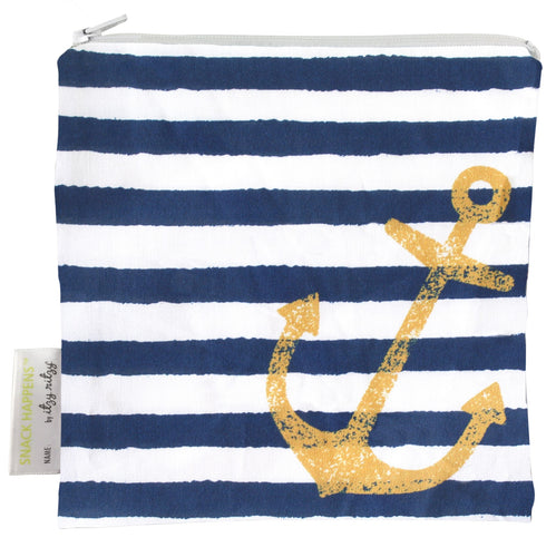 Itzy Ritzy Snack Happens Reusable Snack and Everything Bag- Anchor Down