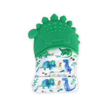 Itzy Mitzy Silicone Teething Mitt- Dino