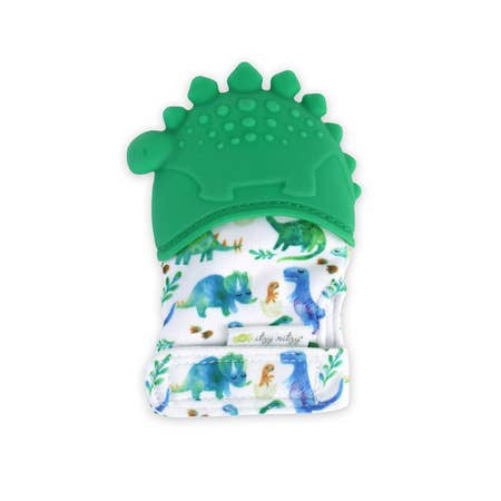 Itzy Mitzy Silicone Teething Mit- Dino