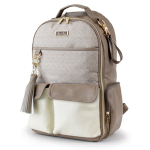 Itzy Ritzy Vanilla Latte Boss Diaper Bag Backpack
