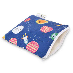 Itzy Ritzy Snack Happens Reusable Snack and Everything Bag- Interstellar