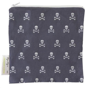 Itzy Ritzy Snack Happens Reusable Snack and Everything Bag- Rebel Skulls