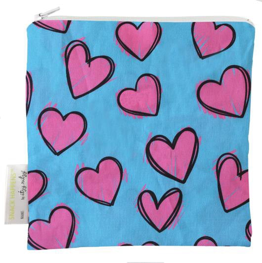 Itzy Ritzy Snack Happens Reusable Snack and Everything Bag- Happy Hearts