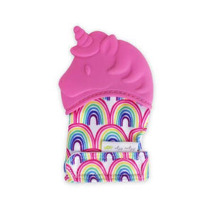 Itzy Mitzy Silicone Teething Mitt- Unicorn