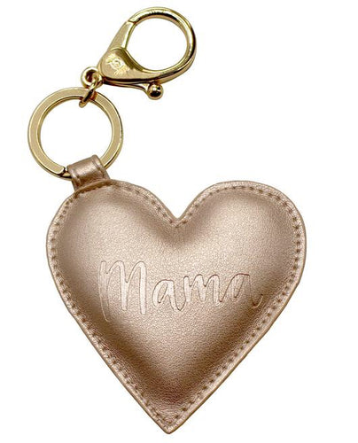 Itzy Ritzy Diaper Bag Charm- Gold Mama Heart