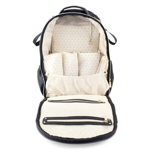 Itzy Ritzy Jetsetter Black Boss Diaper Bag Backpack