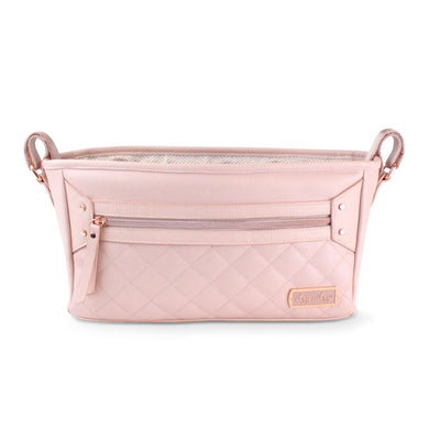 Preorder Itzy Ritzy Stroller Organizer- Blush and Black and Silver