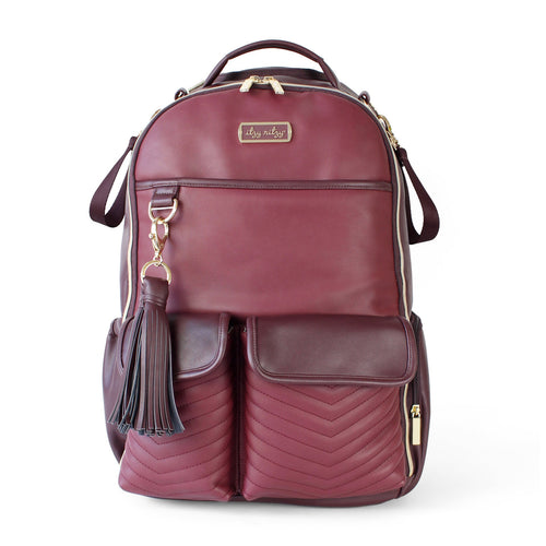 Itzy Ritzy Hello Merlot Boss Diaper Bag Backpack