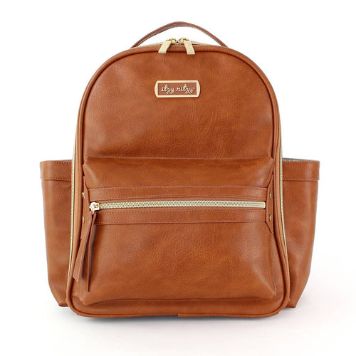 Itzy Ritzy Mini Backpack- Cognac