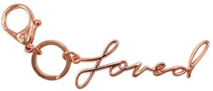 Itzy Ritzy Diaper Bag Charm- Rose Gold Loved Charm