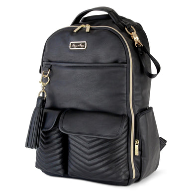 PREORDER Itzy Ritzy Black with Gold Boss Diaper Bag Backpack