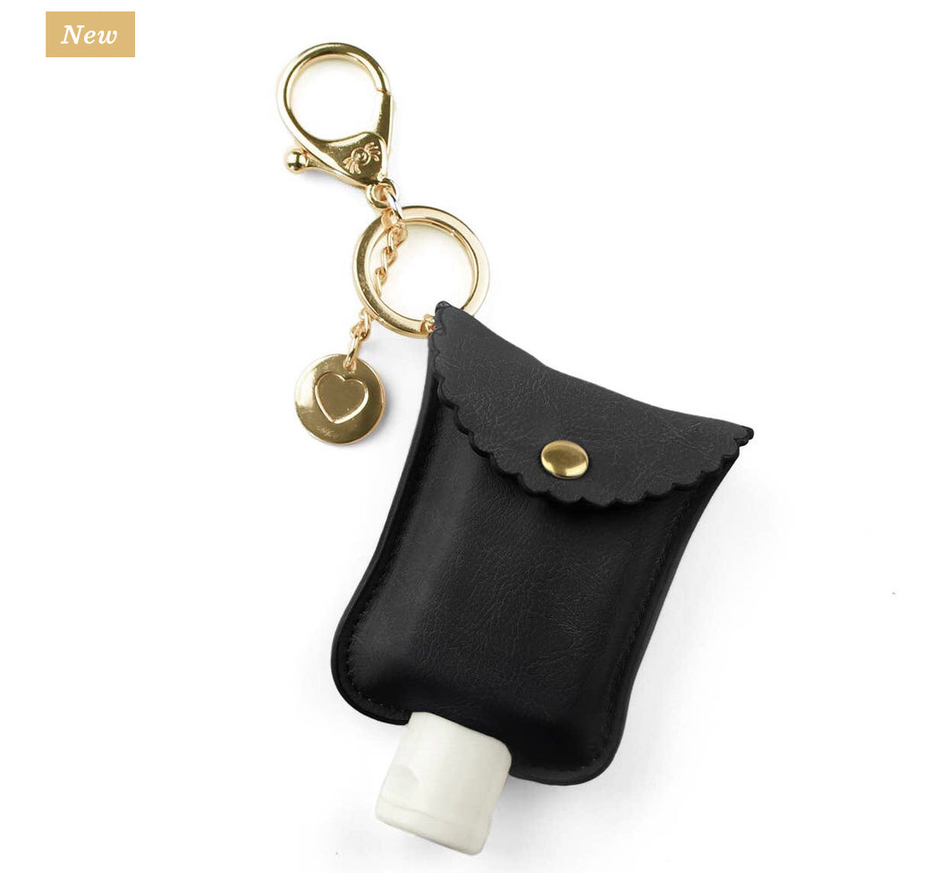 PREORDER Itzy Ritzy Hand Sanitizer Clip- Black and Gold