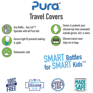 Pura Stainless- Silicone Travel Cover- 2 pack