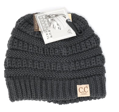 CC Beanie Classic Ponytail KIDS- Multiple Colors Available