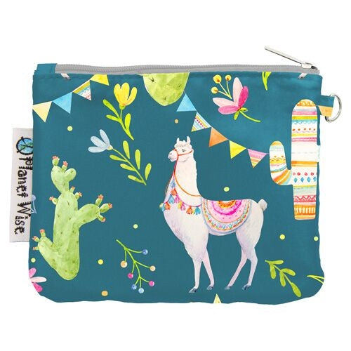 Planet Wise Coin Purse- Llama Party