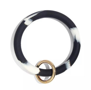 Marble Silicone Ring Key Ring