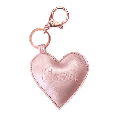 Itzy Ritzy Diaper Bag Charm- Rose Gold Mama Heart